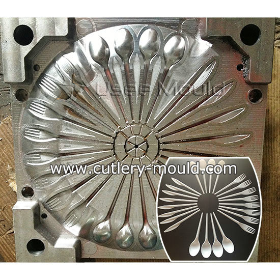 24 cavities combined fork mould