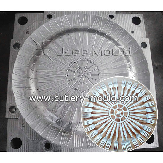 32 cavities fork mould