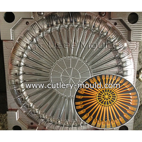 36 cavities fork mould