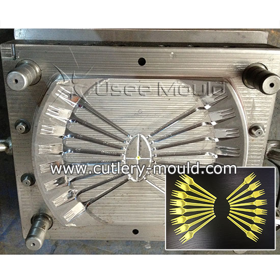 16 cavities fork mould