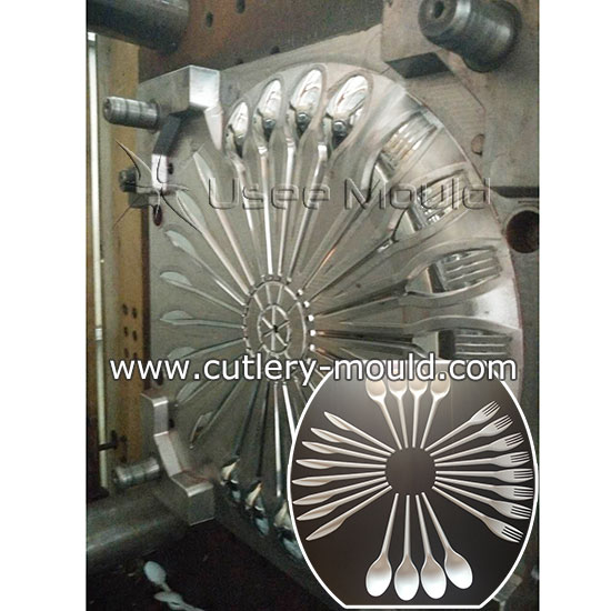24 cavities combined cutlery mould