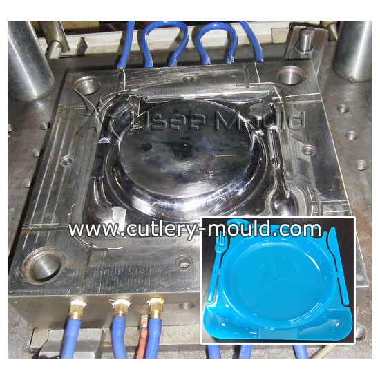 combined cutlery with plate mould