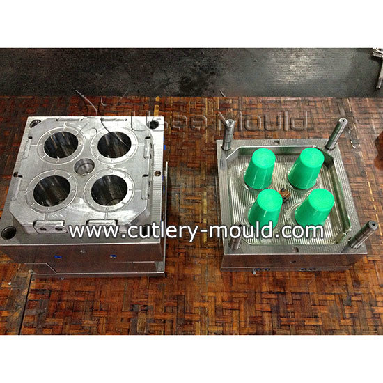 4 cavities water cup mould