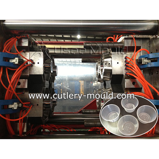 4 cavities thinwall food container mould